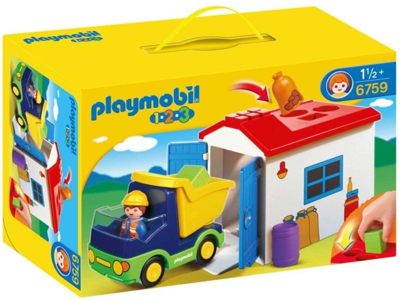 Playmobil 1.2.3 - Camion avec garage PLAYMOBIL