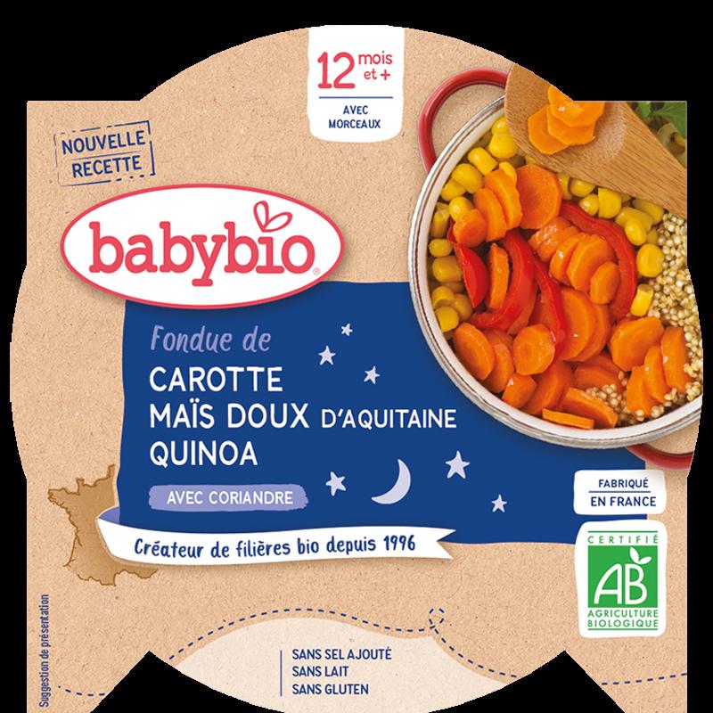 Bonne Nuit Fondue de Carotte Maïs doux d'Aquitaine & Quinoa à la Coriandre