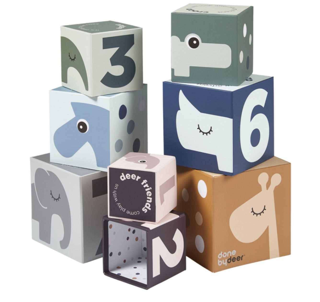 Cubes à empiler Deer Friends