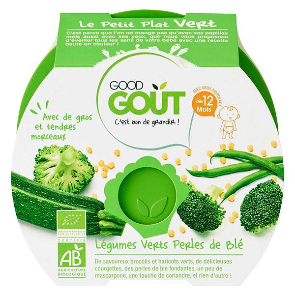 Le Petit Plat vert : légumes verts, perles de blé