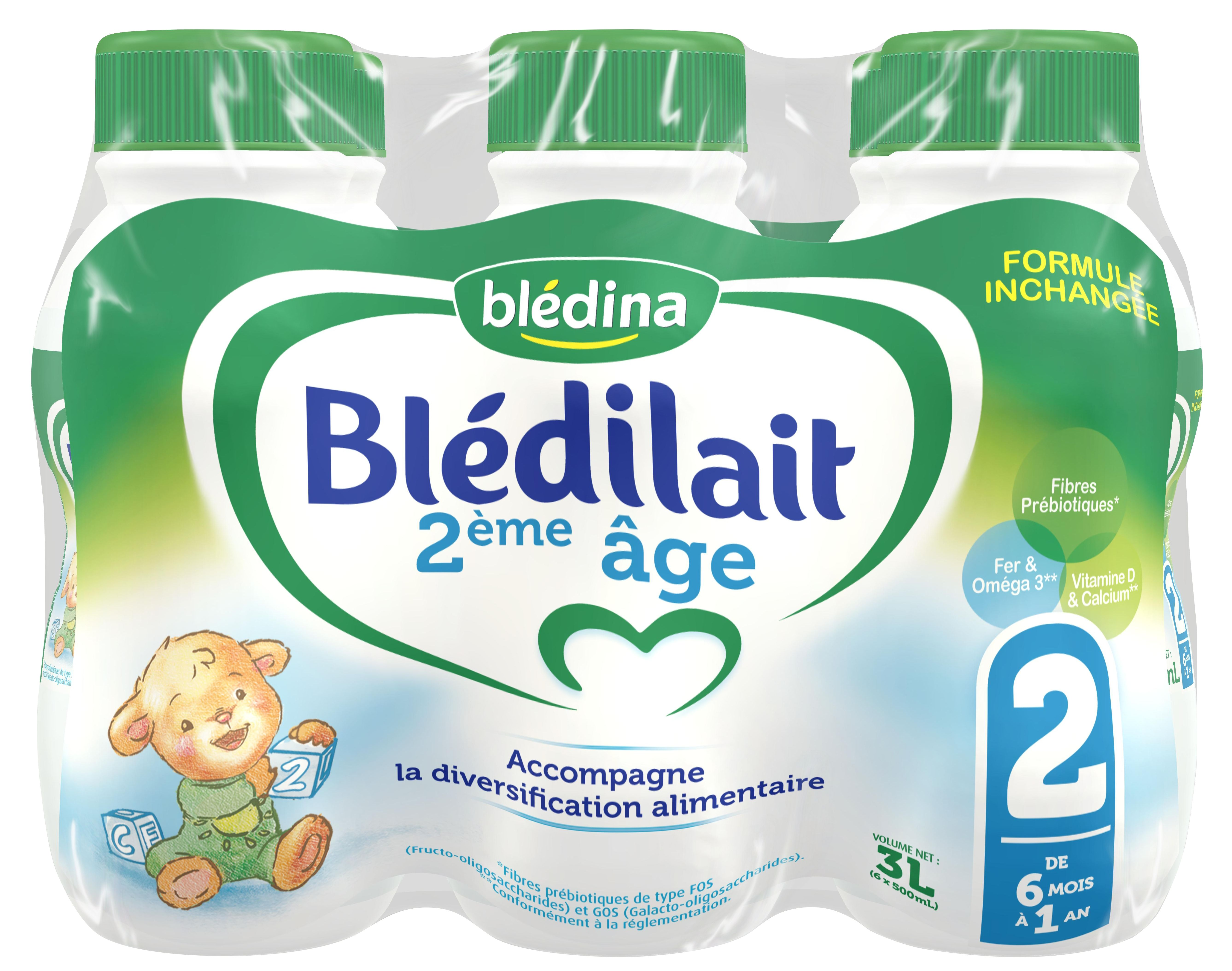 Lait Blédilait 2ème âge liquide