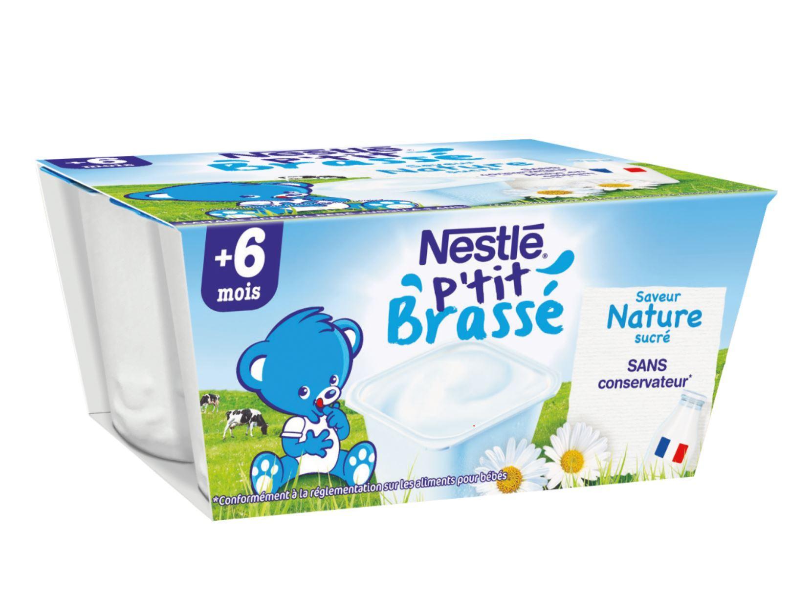 P'tit Brassé Nature (4x100g) NESTLÉ