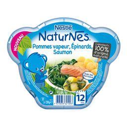 NaturNes Pommes vapeur épinards saumon