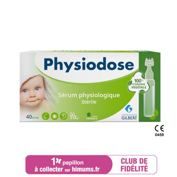 Sérum physiologique en plastique d'origine végétale PHYSIODOSE