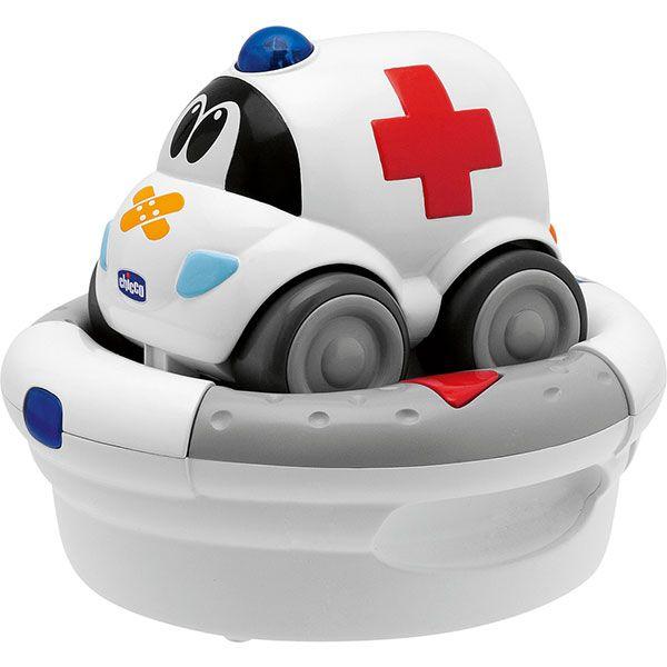 Voiture télécommandée rechargeable ambulance CHICCO