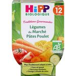 Légumes du marché pâtes poulet 220 g dès 12 mois