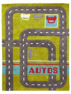 Tapis aire de jeu garcon theme autos