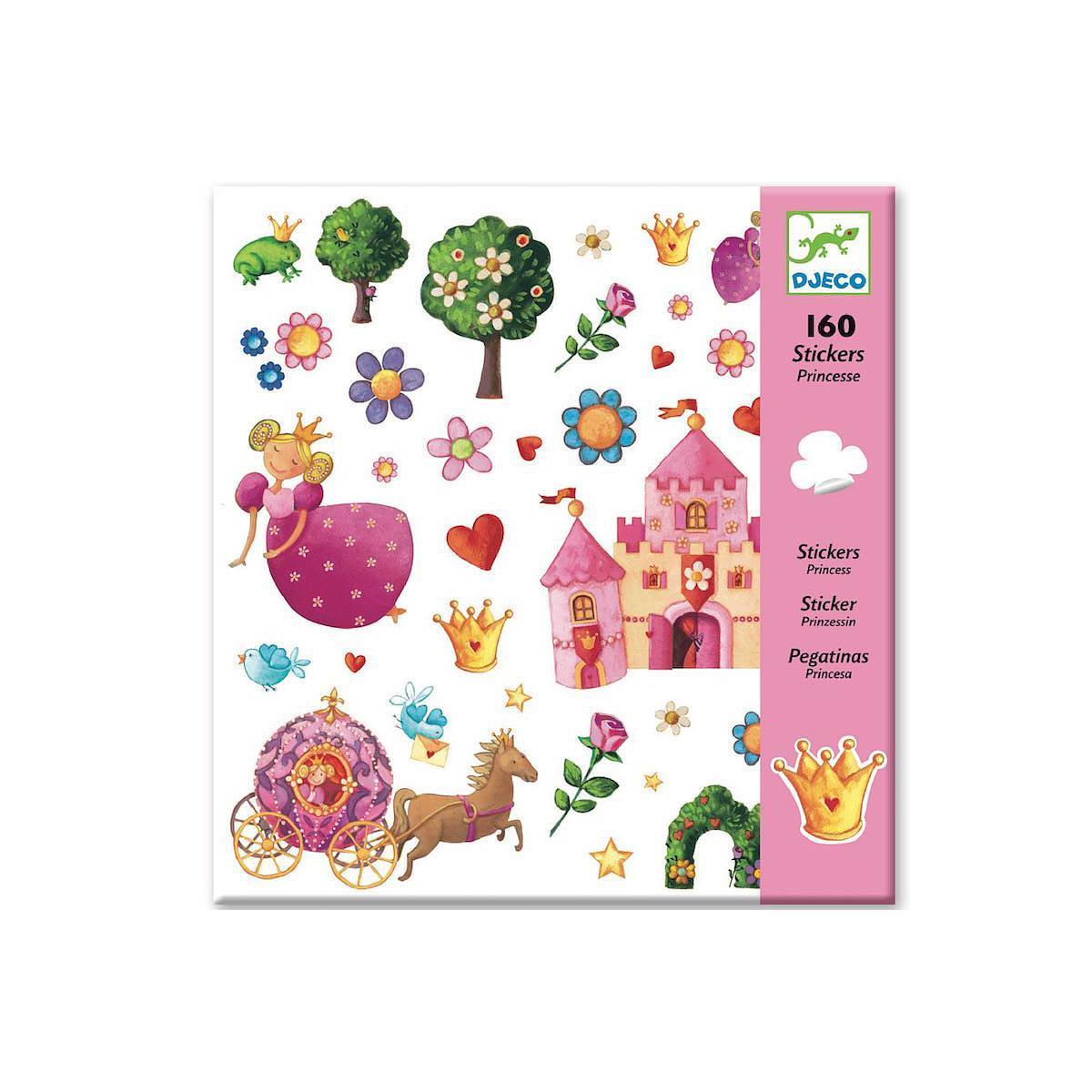 160 Stickers princesses