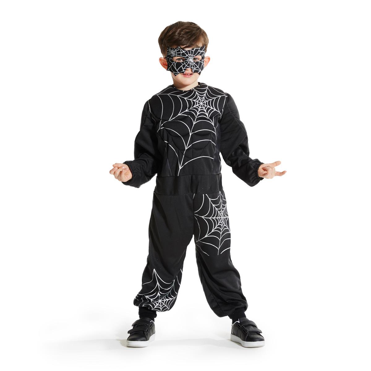 Déguisement Homme araignée noir 3-5 ans by Imagibul