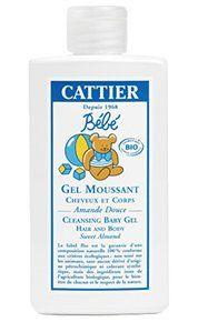 Gel moussant cheveux et corps bébé CATTIER