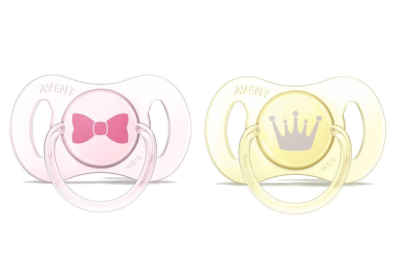 Sucette nouveau-né décorées en silicone -0/2 mois AVENT-PHILIPS