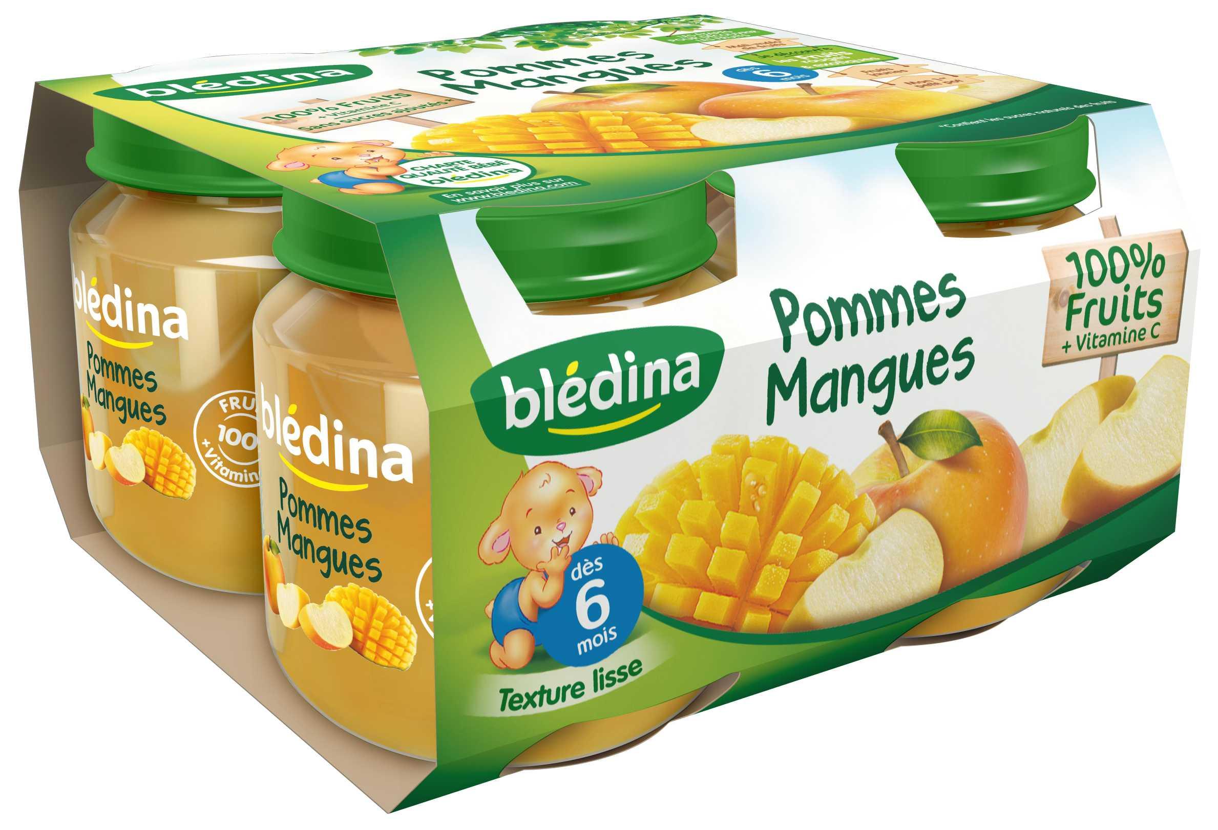 Pot Pommes Mangues 4x130g