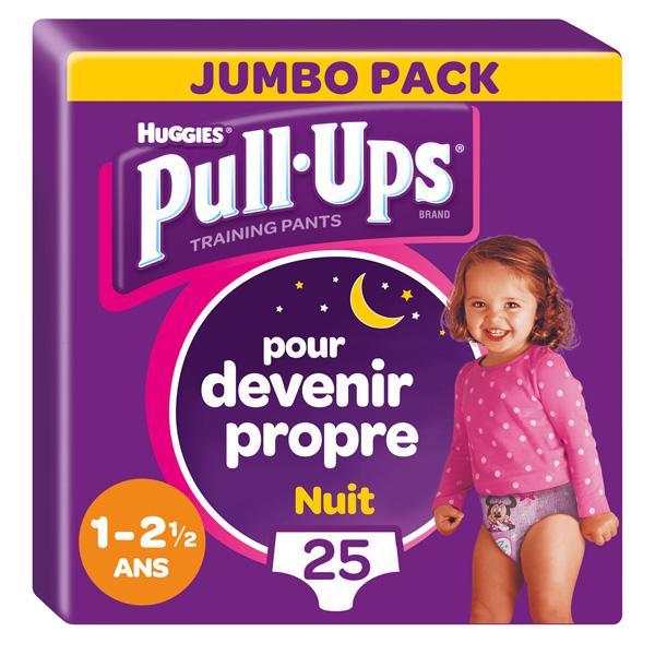 Pull-Ups Culottes Nuit Fille (8-15 kg)