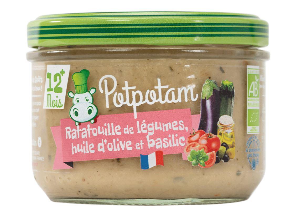 Ratatouille de légumes, huile d'olive et basilic