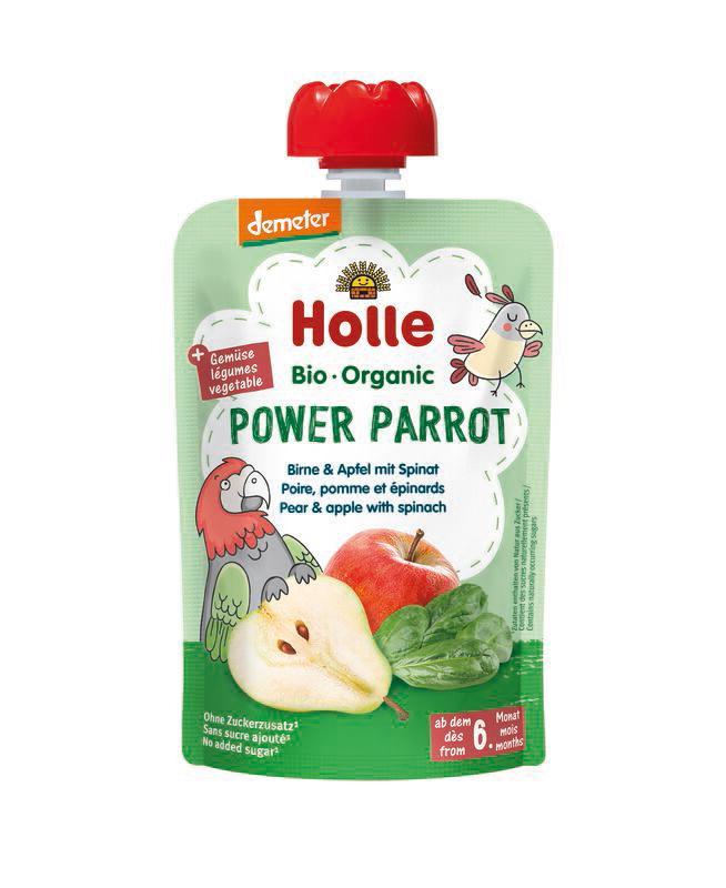 Power Parrot - Gourde poire, pomme et épinards