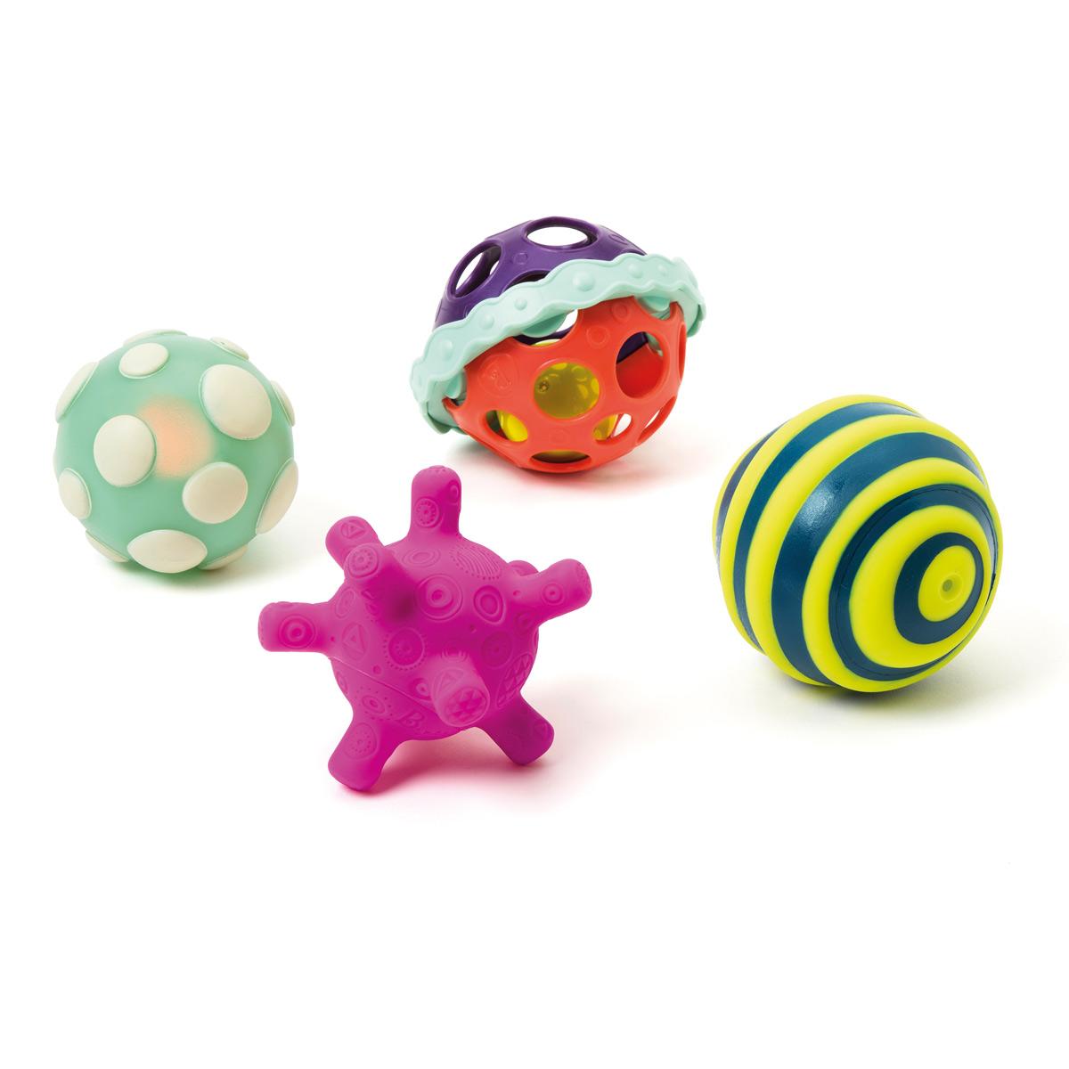 4 Balles texturées et lumineuses