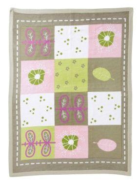 Tapis a motif vegetal chambre fille theme herbier