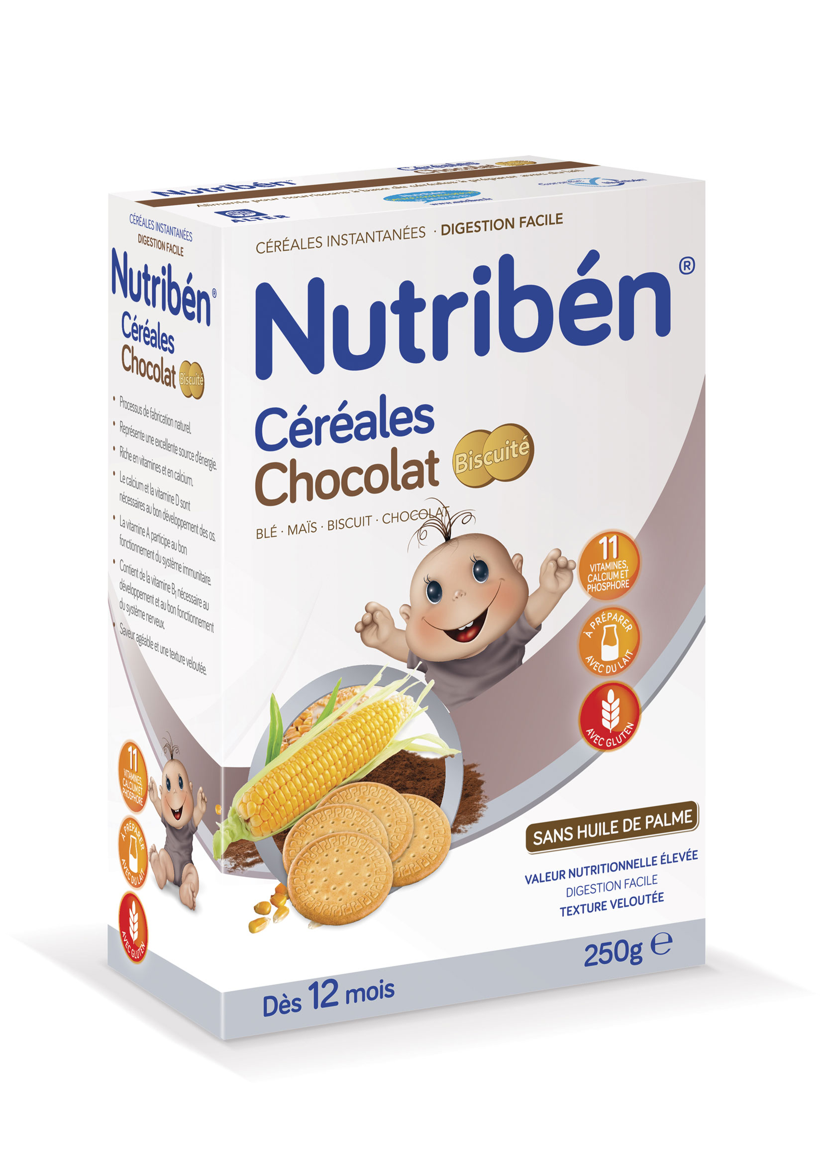 8 céréales chocolat biscuité  NUTRIBEN