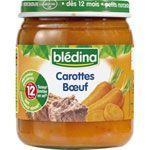 Carottes boeuf 250 g dès 12 mois