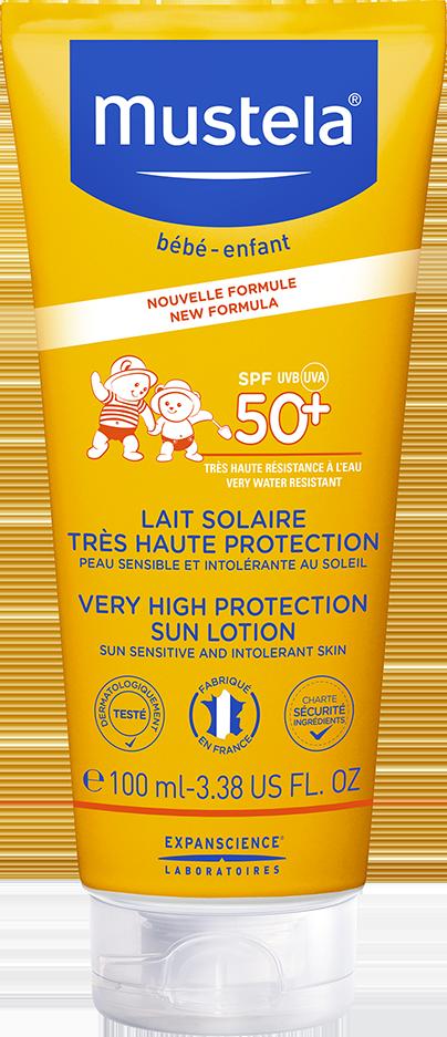 Lait solaire très haute protection SPF 50+