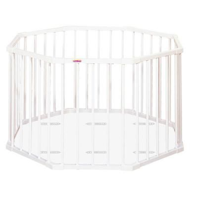 Parc bébé rond avec fond hêtre laqué