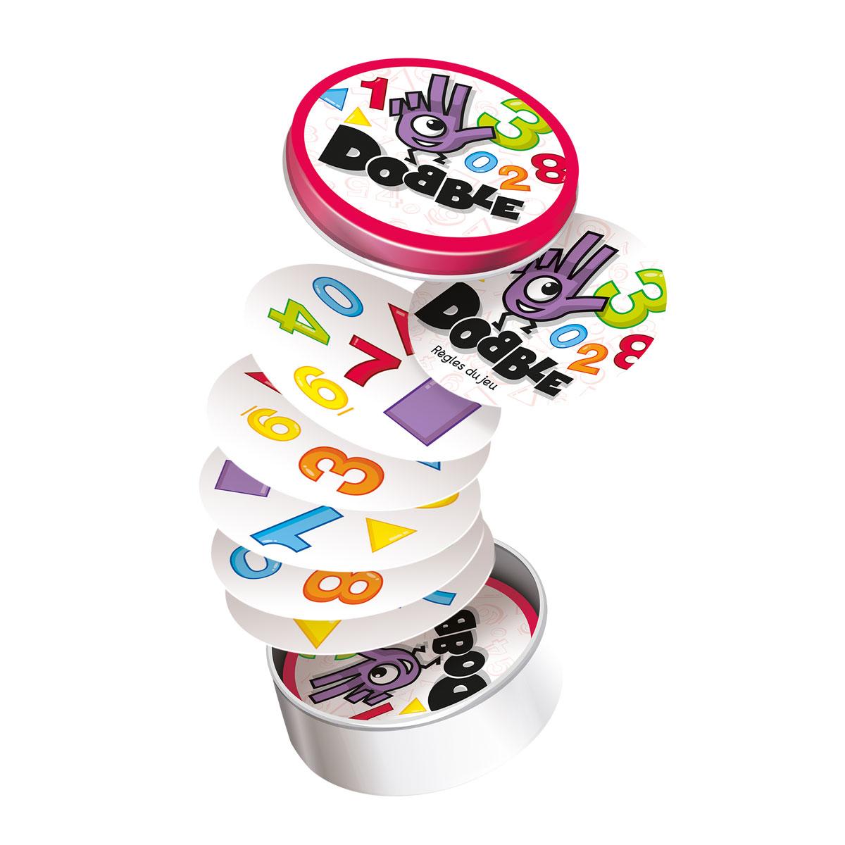 Jeu de cartes Dobble chiffres et formes