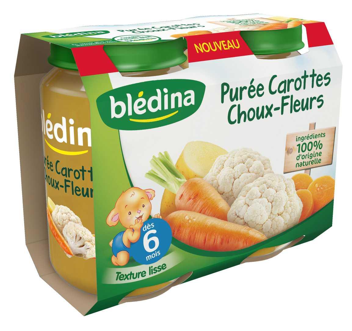Pot Purée Carottes Choux-fleurs 2x200g BLEDINA