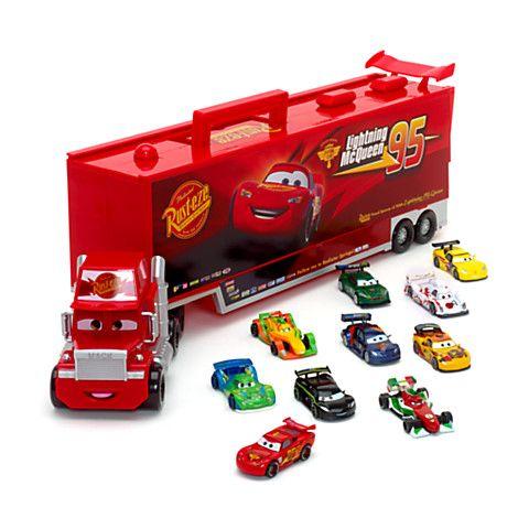 Ensemble Mack parlant et 10 voitures miniatures Cars