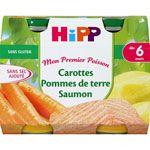 Carottes Pommes de terre Saumon - 2 pots x 190g - 6 mois
