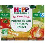 Pommes de Terre Tomates Poulet - 2 pots x 190g - 8 mois