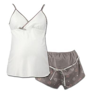 Pyjashort de maternité et d'allaitement 2 pièces