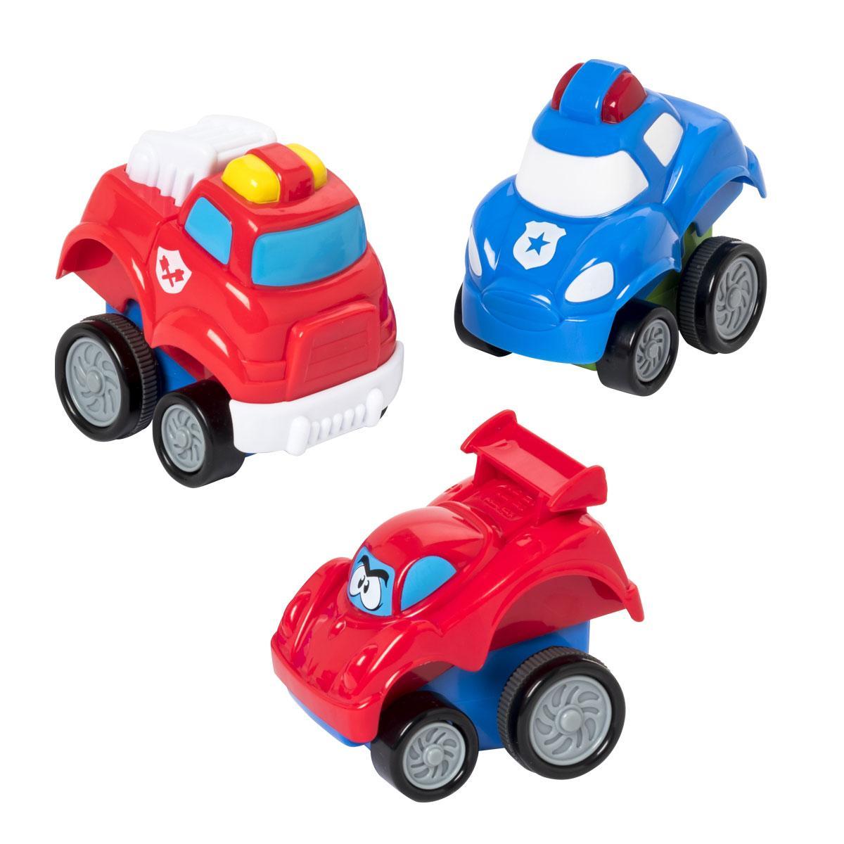 Set de 3 voitures press and go