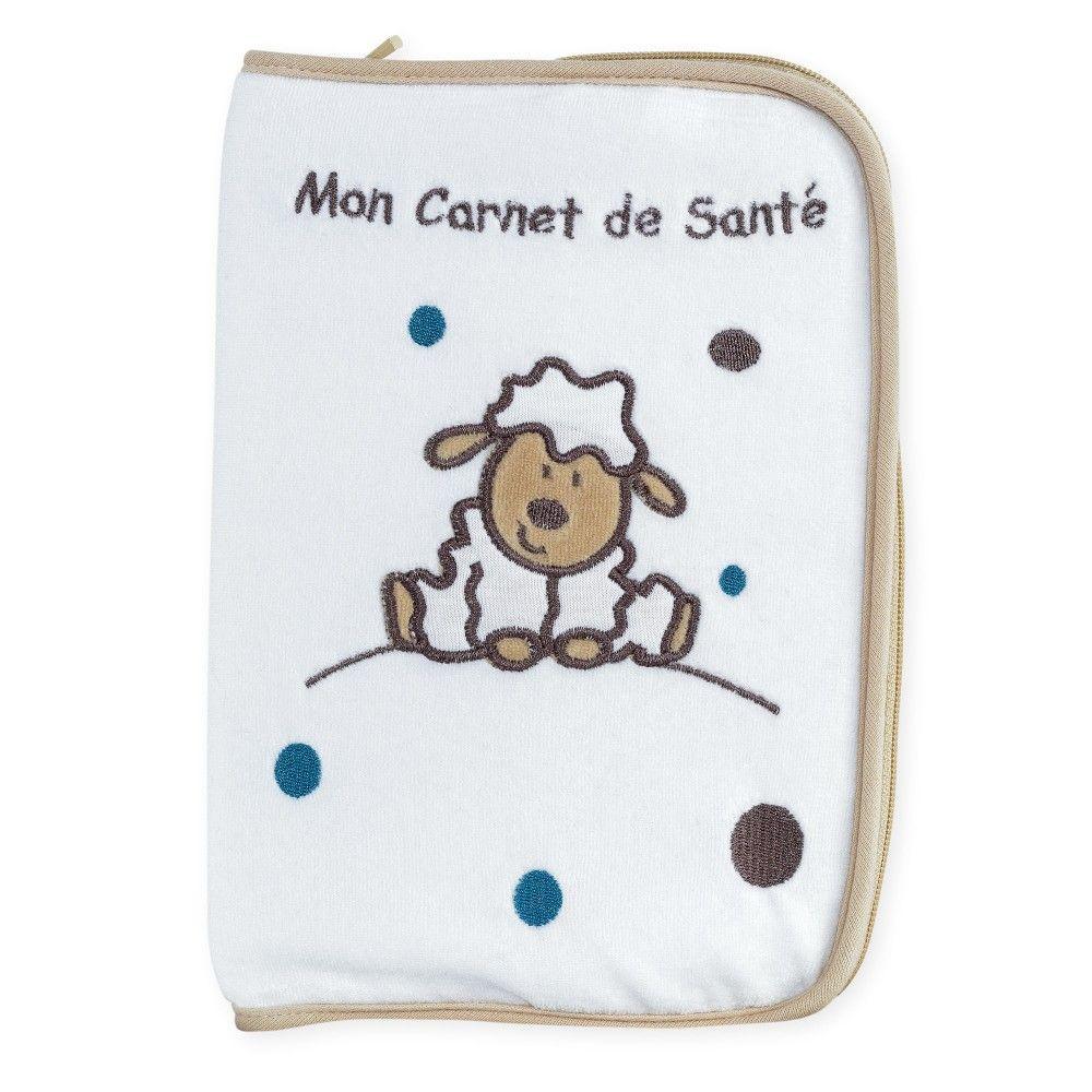 Protège carnet de santé Simon le petit mouton