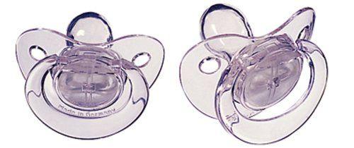 2 sucettes transparentes en silicone 0-6 mois