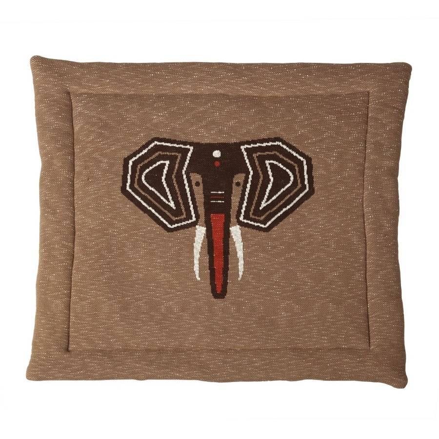 Tapis de parc tricot éléphant