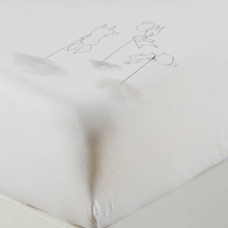 Drap housse percale de coton biologique imprimé animaux Imagine
