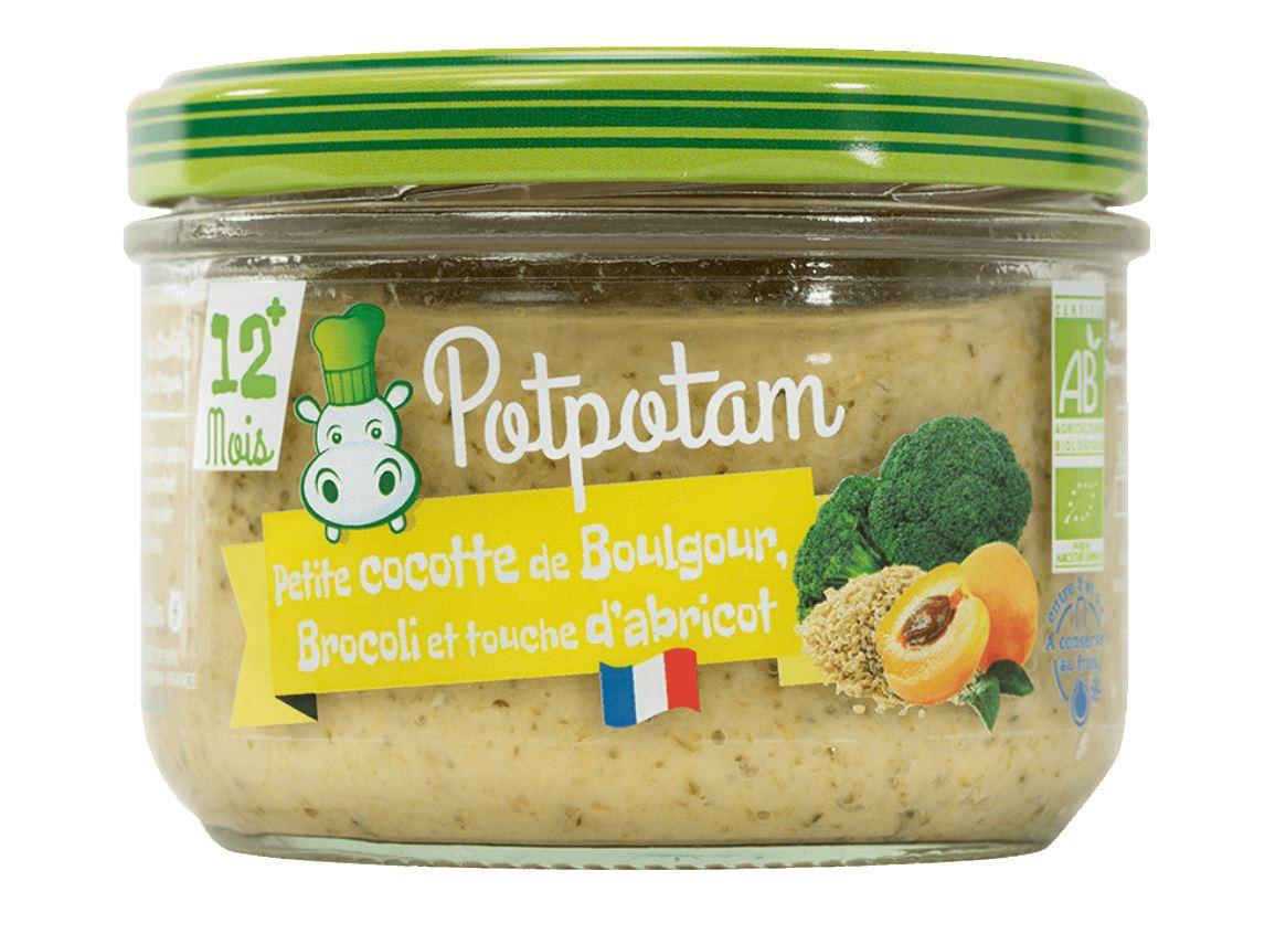 Petite cocotte de boulgour, brocoli et touche d'abricot