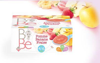 Compote pomme banane fraise