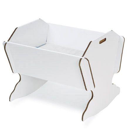Berceau en carton avec matelas