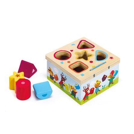 Boîte à formes en bois