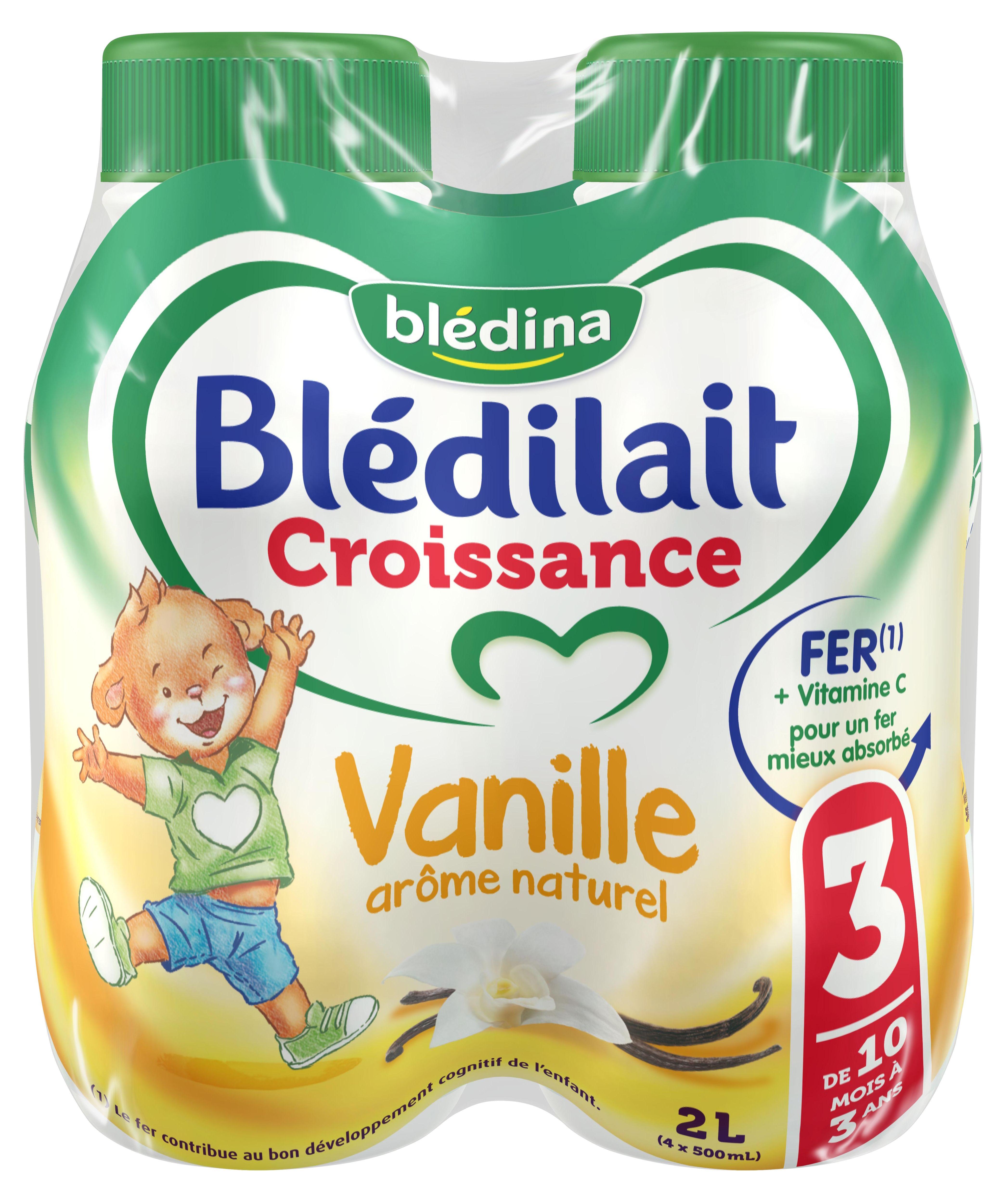 Lait Blédilait Croissance Liquide Vanille