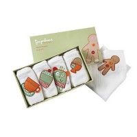 Boîte de 5 serviettes Gingerbread MAMAS AND PAPAS