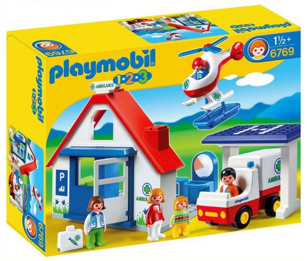 Playmobil 1.2.3 - Coffret hôpital PLAYMOBIL