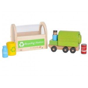 Centre de recyclage avec camion