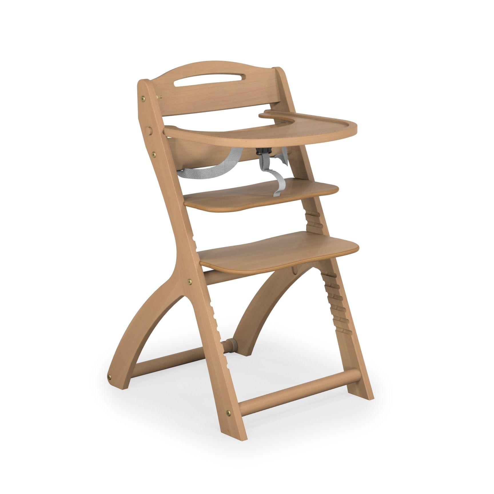 Chaise haute transformable bois vernis