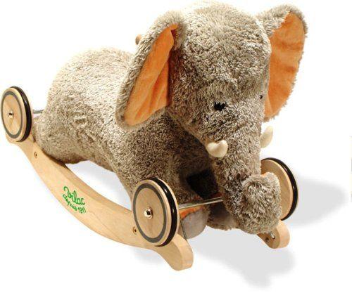 Baby éléphant à bascule et roulettes