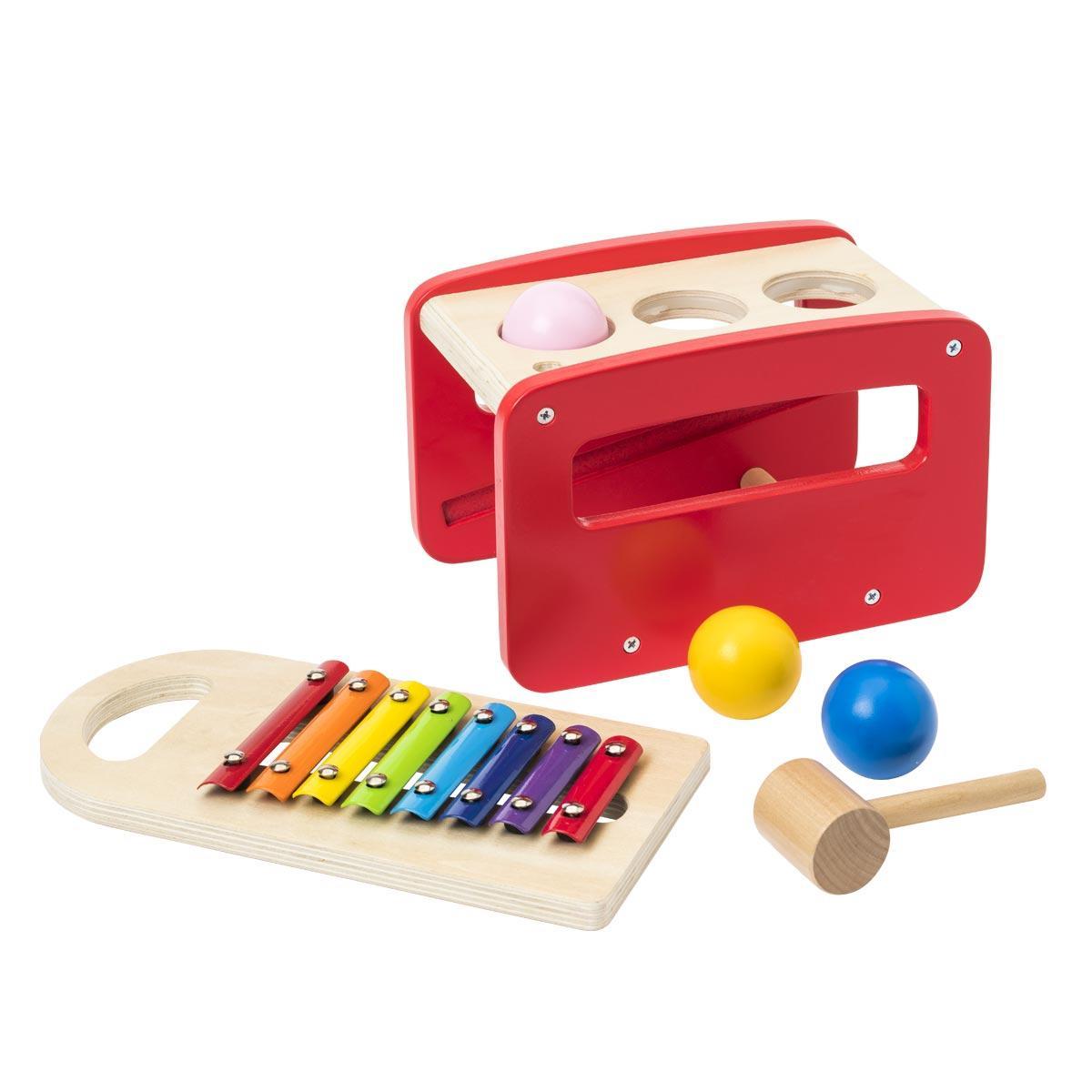 Tap tap en bois xylophone 2 en 1