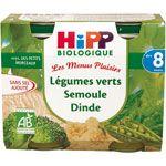 Légumes verts semoule dinde 190 g dès 8 mois