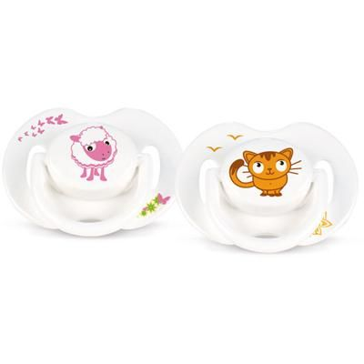 2 sucettes orthodontiques animal silicone 0-6 mois  AVENT-PHILIPS