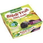 BLEDI FRUIT 100% FRUITS Pomme pruneau 4 x 100 g dès 4-6 mois